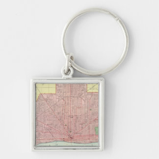 Detroit and Vicinity Keychain