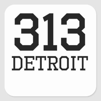Detroit Area Code 313 Stickers