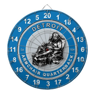 Detroit Armchair Quarterback Football Dartboard