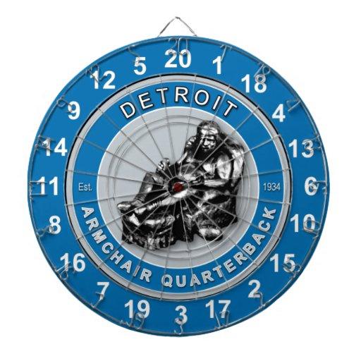 Detroit Armchair Quarterback Football Dartboard Zazzle