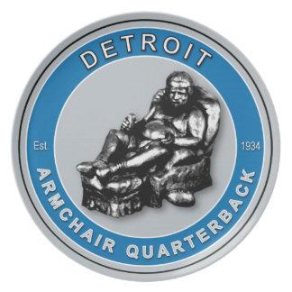 Detroit Armchair Quarterback Plate
