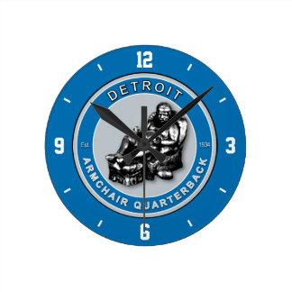 Detroit Armchair Quarterback Wall Clock