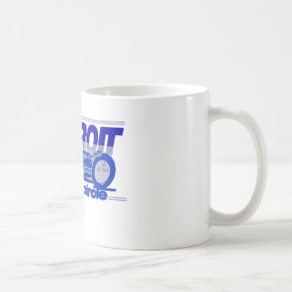Detroit Auto Industry Full Circle Style Lions Blue Coffee Mug