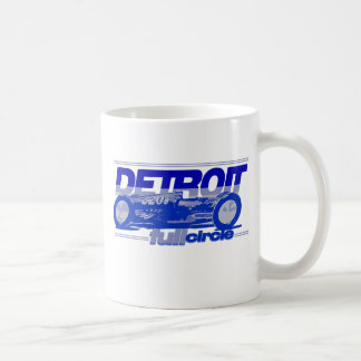 Detroit Auto Industry Full Circle Style Lions Blue Coffee Mugs