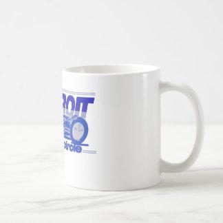 Detroit Auto Industry Full Circle Style Lions Blue Mug