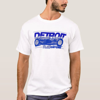 Detroit Auto Industry Full Circle Style Lions Blue T-Shirt