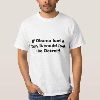 Detroit Bankruptcy, Obamas city T-Shirt
