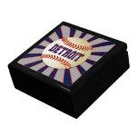 Detroit Baseball Keepsake Jewelry Gift Box
