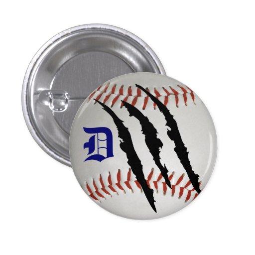 Detroit Baseball Team Pinback Button