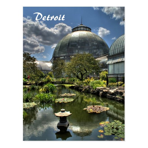 Detroit - Belle Isle Post Card