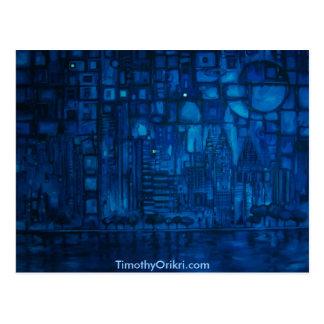 Detroit Blue I - Postcard
