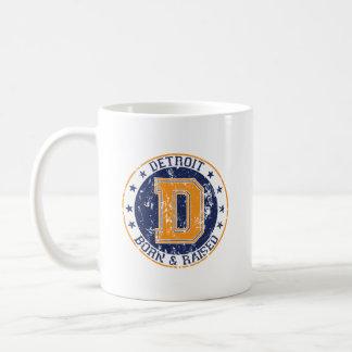 Detroit Born and Raised Coffee Mug