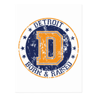 Detroit Born and Raised Postcard