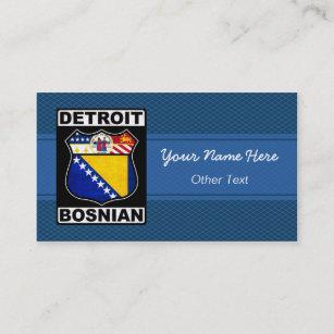 Detroit business cards templates zazzle detroit bosnian american business cards colourmoves