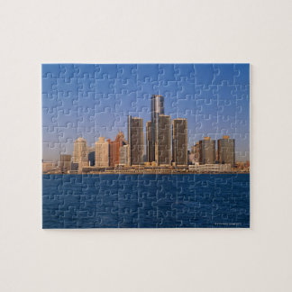 Detroit buildings on the water jigsaw puzzle