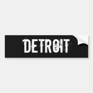 Detroit Car Bumper Sticker