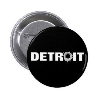 Detroit 2 Inch Round Button
