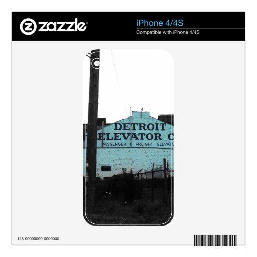 Detroit céntrica calcomanías para iPhone 4S