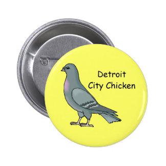 Detroit City Chicken Button