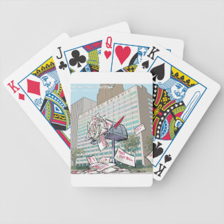 Detroit City Hall Funny Bicycle Playing Cards