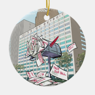 Detroit City Hall Funny Ceramic Ornament