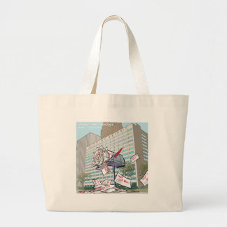 Detroit City Hall Funny Large Tote Bag