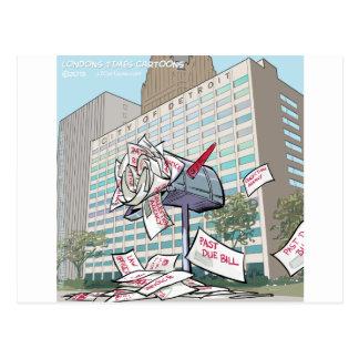 Detroit City Hall Funny Postcard