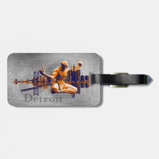 Detroit City Luggage Tags
