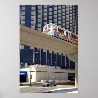 Detroit City Metro MI Poster Print