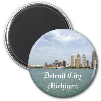 Detroit City Michigan 2 Inch Round Magnet