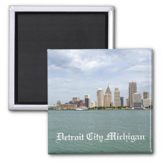 Detroit City Michigan 2 Inch Square Magnet
