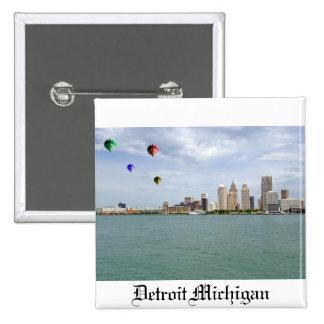 Detroit City Michigan Button