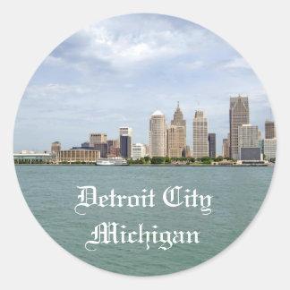 Detroit City Michigan Classic Round Sticker