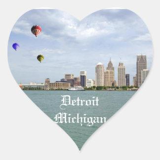 Detroit City Michigan Heart Sticker