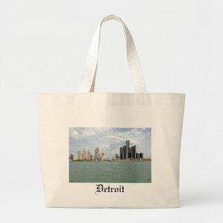 Detroit City Michigan Large Tote Bag