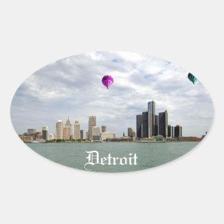 Detroit City Michigan Oval Sticker