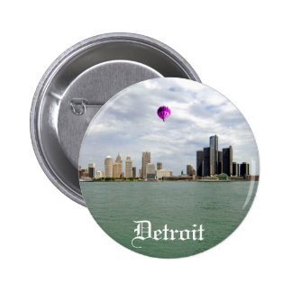 Detroit City Michigan Pinback Button