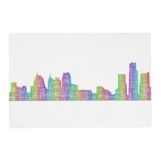 Detroit city skyline placemat