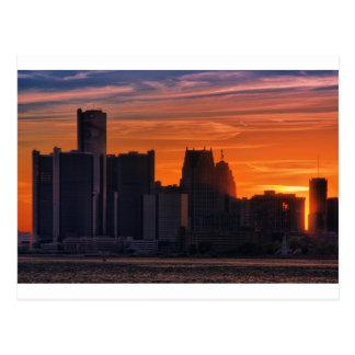 Detroit Cityscape 0516 Postcard