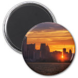 Detroit Cityscape 0527 Fridge Magnets