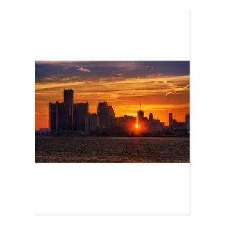 Detroit Cityscape 0527 Post Cards