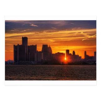 Detroit Cityscape 0527 Postcard