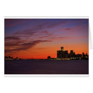 Detroit Cityscape 0552 Card