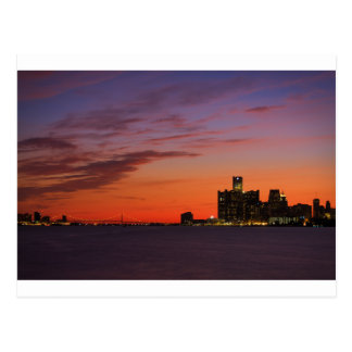 Detroit Cityscape 0552 Postcard