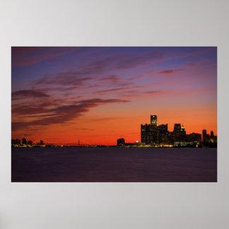 Detroit Cityscape #0652 Print