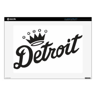 """Detroit Crown Decal For 15"""" Laptop"""