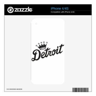 Detroit Crown iPhone 4 Skins