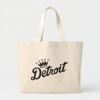 Detroit Crown Large Tote Bag