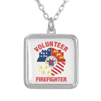 Detroit, cruz del bombero del voluntario de la colgante cuadrado