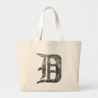 Detroit D wash Large Tote Bag